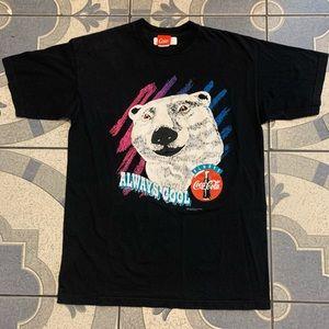 Vintage '94 Coca-Cola Puff Print Polar Bear Tee L